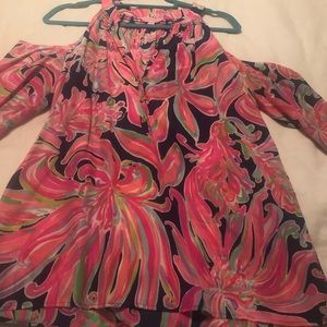 Lilly Pulitzer Open Shoulder Blouse